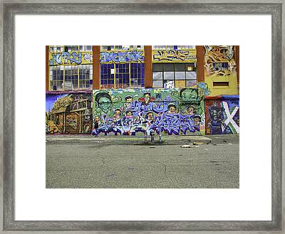 Graffiti Crisis Framed Print by E Osmanoglu