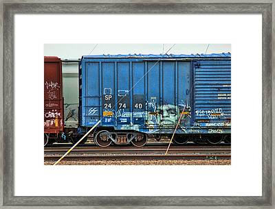 Graffiti - Face Off Framed Print