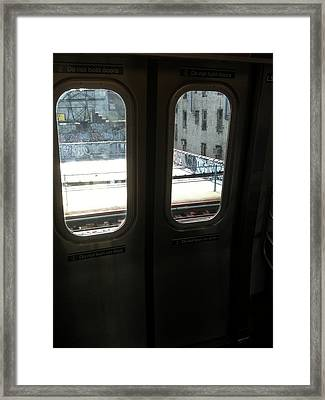 Graffiti From Subway Train Framed Print by Mieczyslaw Rudek
