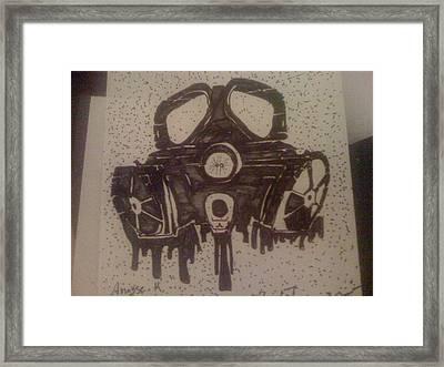 Graffiti Gass Mask Framed Print by Anasse Kamal