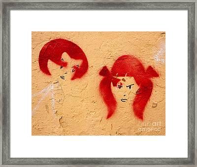 Graffiti Girls 02 Framed Print by Rick Piper Photography