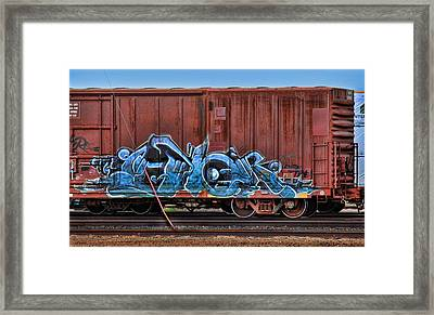 Graffiti - Graphical Blue Framed Print