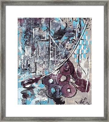Graffiti Gumbo Framed Print by Buck Buchheister