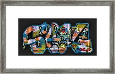 Graffiti - Happy/sad Framed Print