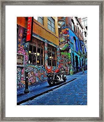 Graffiti Harley Shoes - Melbourne - Australia Framed Print