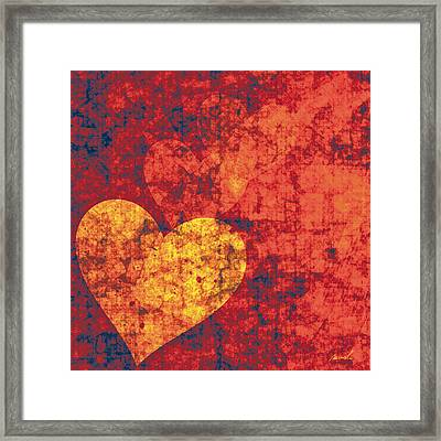 Graffiti Hearts Framed Print