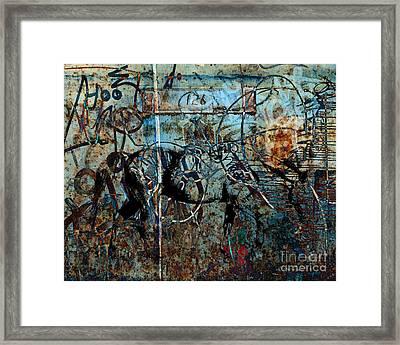 Graffiti Horse Blues Framed Print by Judy Wood