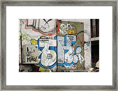 Graffiti In Sozopol Framed Print by Tony Murtagh