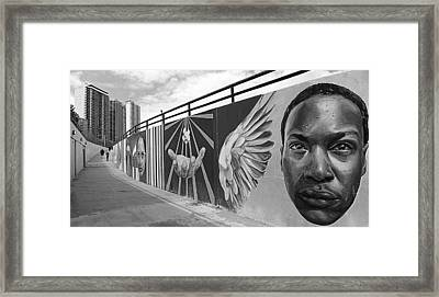 Graffiti In The Windy City Framed Print