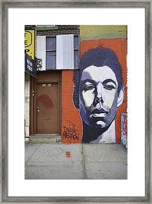 Graffiti Jane Framed Print by E Osmanoglu