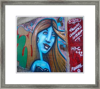 Graffiti Kansas City 6 Framed Print by Ellen Tully