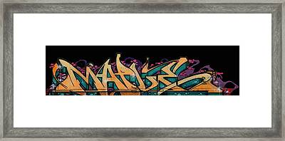 Graffiti - Lady M Framed Print
