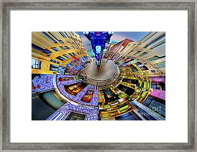 Graffiti Lane Circagraph Framed Print by Az Jackson