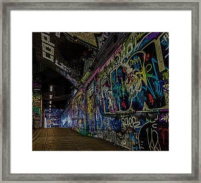 Graffiti Leake Street London Framed Print