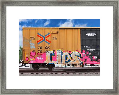 Graffiti - Lips Framed Print