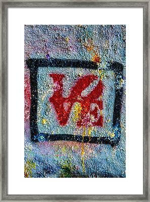 Graffiti Love Framed Print by Susan Candelario