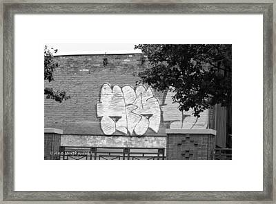 Framed Print featuring the photograph Graffiti Nyc by Ann Murphy