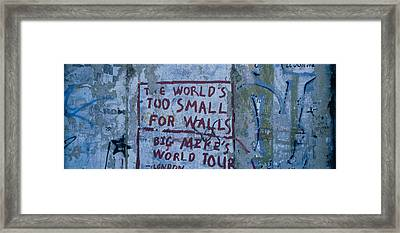 Graffiti On A Wall, Berlin Wall Framed Print by Panoramic Images