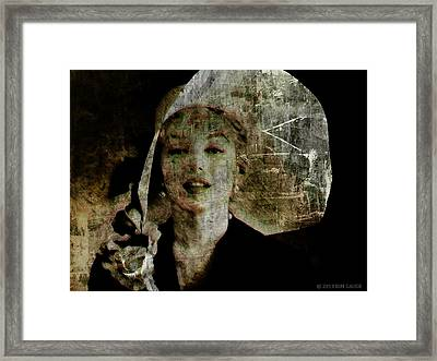 Graffiti On Marilyn Framed Print by Kim Gauge