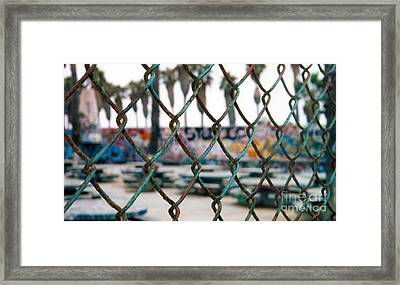 Graffiti Out Of Bounds Framed Print by Wylder Flett