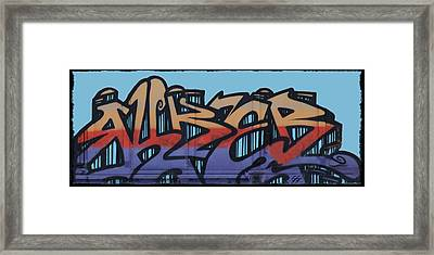 Graffiti - Panel Framed Print