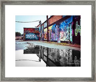 Graffiti Reflection Framed Print by Sonja Quintero