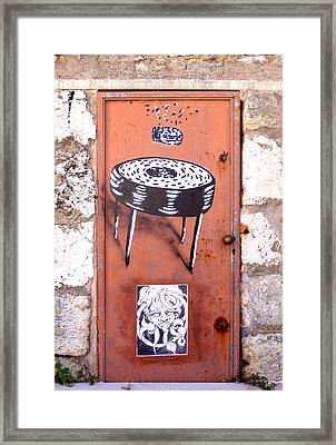 Graffiti Framed Print by Roberto Alamino