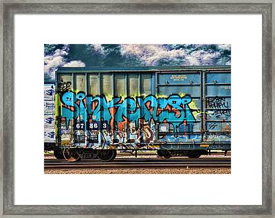 Graffiti - Sinker Framed Print