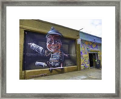 Graffiti Street 2014 Framed Print by E Osmanoglu
