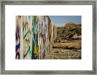 Graffiti Wall Framed Print by Arlene Sundby