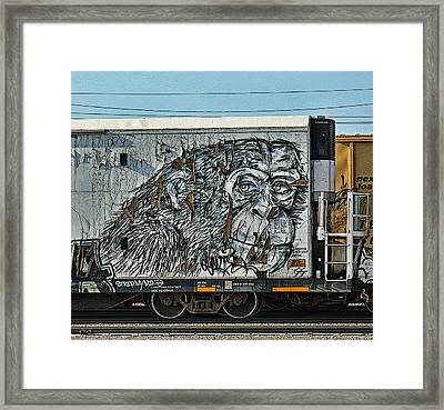 Graffiti - Weathered  Framed Print