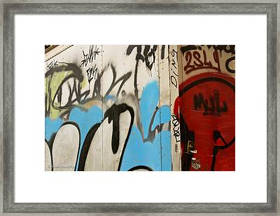 Framed Print featuring the photograph Graffiti Writing Nyc #2 by Ann Murphy