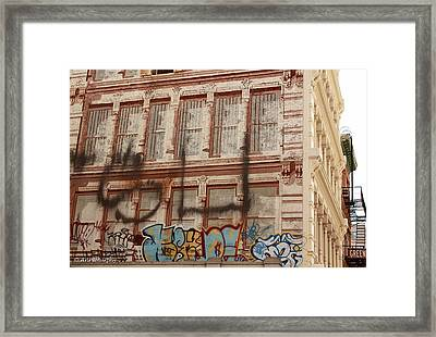 Framed Print featuring the photograph Graffiti Writing Nyc by Ann Murphy