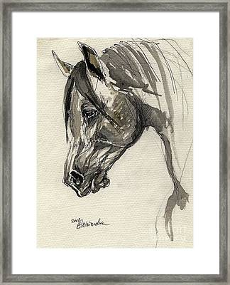 Grafik Polish Arabian Horse Ink Drawing Framed Print by Angel  Tarantella