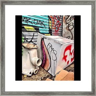 Grafitti #cardiff #graffiti #urban Framed Print