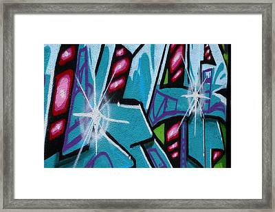 Grafitti Colors Framed Print by Linda Unger