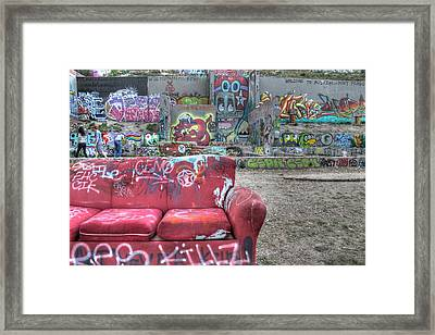 Grafitti Couch Framed Print by Jane Linders