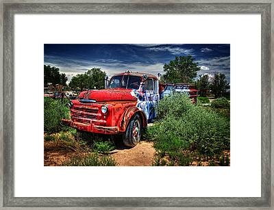 Framed Print featuring the photograph Grafitti Fire Truck by Ken Smith