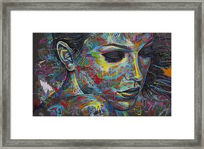 Grafitti Portrait Framed Print by Austin Whisnant