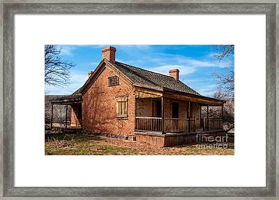 Grafton Ghost Town Home - Utah Framed Print by Gary Whitton
