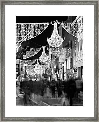 Framed Print featuring the photograph Grafton Street At Christmas / Dublin by Barry O Carroll