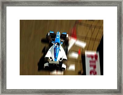 Graham Rahal Indy Racer Framed Print by Denise Dube