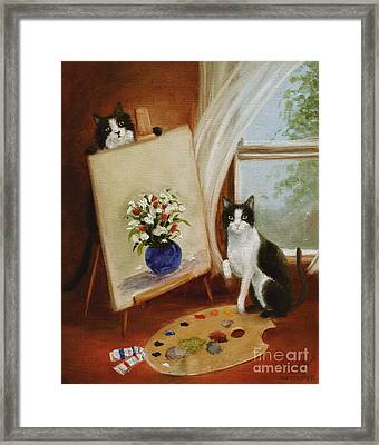 Graham's Cats The Artists Framed Print by Stella Violano