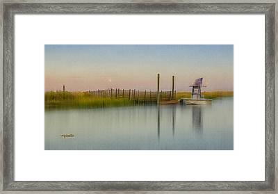 Moonrise Landing Framed Print