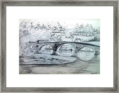 Graignamanagh Bridge River Barrow  Kilkenny Ireland  Framed Print