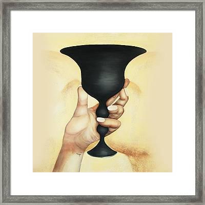 Grail Framed Print by Gabriela Maria PASCENCO