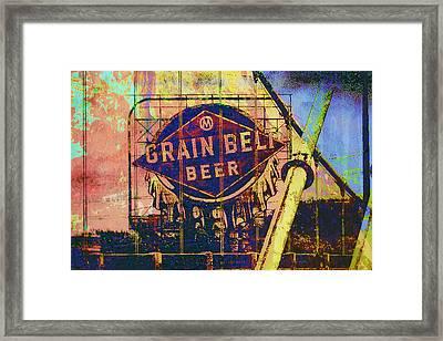 Grain Belt Beer Framed Print by Susan Stone