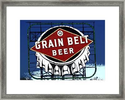 Grain Belt Blue Framed Print