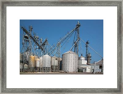 Grain Elevator Complex Framed Print by Jim West