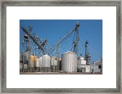Grain Elevator Complex Framed Print